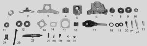 All Spare Parts for Three Wheeler, Electric Rickshaw, Tricycle, Electric Car pictures & photos