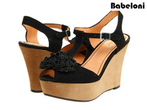 Latest Summer Fashion Design Wedge Heel Lady Sandals Shoes