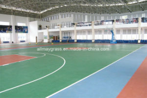 Low Maintenance Costs Roller Coating Spu Polyurea Elastic Sport Court Flooring pictures & photos