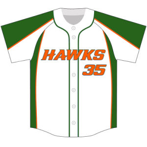 Personalized Team Sublimated Baseball Tops for Players pictures & photos