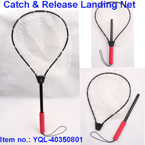 Rubber Landing Net for Catch and Release Fishing