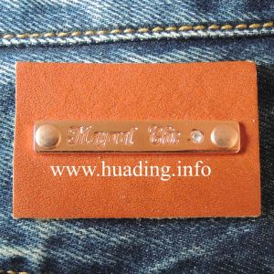 Brown Color PU Patch for Jeans pictures & photos