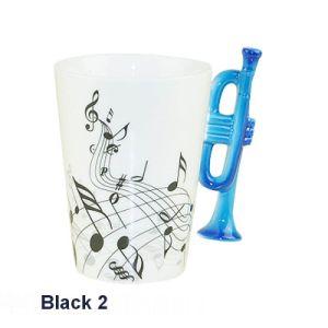 Fine Bone China Musical Mug with Trumpet Handle