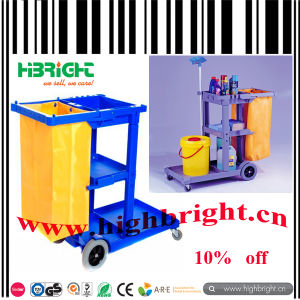Hotel Plastic Cleaning Trolley Janitor Cart for Supermarket pictures & photos