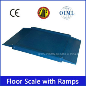 Electronic Digital Ultra Low Profile Floor Scale with Two Ramps pictures & photos