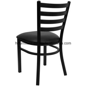 Ladder Back Metal Restaurant Chair with Vinyl Seat pictures & photos