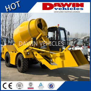 3 M3 Mobile Self-Loading 370 Degree Turning Concrete Mixer Truck pictures & photos