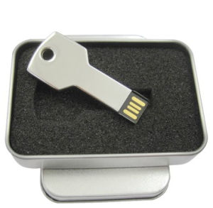 Promotional Key Shape USB Flash Drive with Gold and Sliver Color pictures & photos