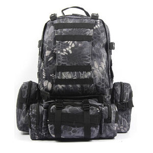 Military Outdoor Tactical Backpack Digital Camouflage Black Backpack Camping and Hiking Backpack