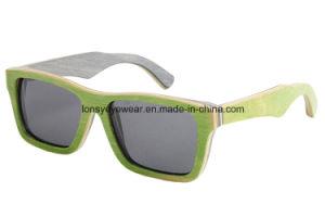 High Quality Skateboard Polarized Wooden Sunglasses (LS2005-C1)