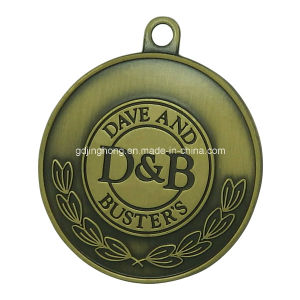 Custom Big Brushed Anti Brass Zinc Alloy Medal pictures & photos