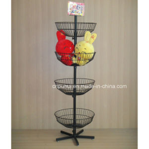 Round Wire Basket Floor Display (PHY275) pictures & photos