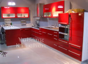 High Gloss/Matt Finished Lacquer Kitchen Cabinet (M-L40)