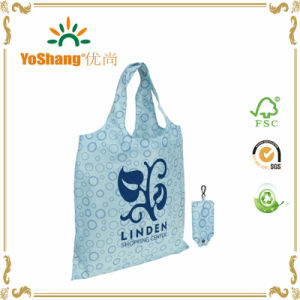 Wholesale Eco 210d Waterproof Folding Nylon Tote Bags with Pouch pictures & photos