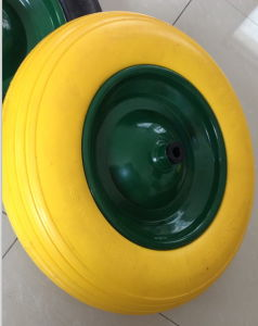 PU Flat Free Wheel with High Quality for Wheel Barrow Use pictures & photos