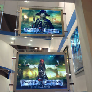 Advertising Edge Lit LED Hanging Crystal LED Light Box pictures & photos