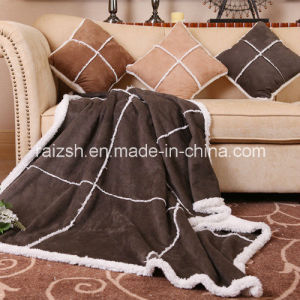 Sherpa Suede Patchwork Blanket European Antique Style pictures & photos