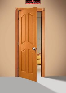 Natural Wood Laminated Veneer Wood Entry Door (SC-W001) pictures & photos