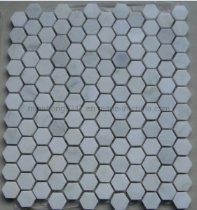 Statuary White Marble Mosaic for Bathroom and Kitchen pictures & photos