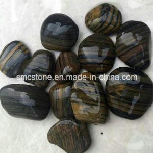 3-5cm Bengal Stripbble High Polished Cobble &Pebble Stone (SMC-PS012) pictures & photos