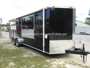 V-Nose Roomy Food Van, Small Griddle, Cook Hood, Mobile Food Truck, Food Cart, Food Trailer pictures & photos