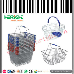 Metal Wire Supermarket Shopping Baskets pictures & photos