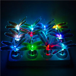 Color Changing Promotional Gift Fiber Optic Dragonfly for Home Decoration