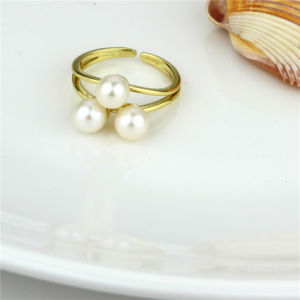 High Quality 925 Sterling Silver Pearl Ring pictures & photos