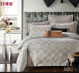 Light Grey Sateen Wave Hotel Bedding Set pictures & photos
