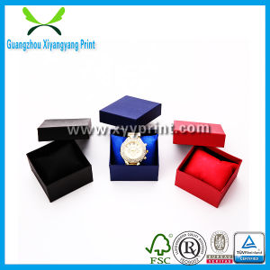 High Quality Custom Black Color Paper Watch Box with Velvet pictures & photos