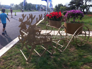 Selling High Quality Outdoor Reindeer Flower-Stand