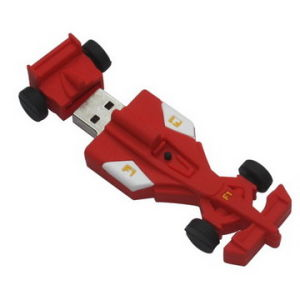 Cartoon Motorcycle Race F1 Car USB Flash Drive