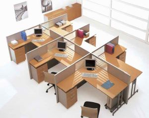 Office Furniture Workstation with Screen Partition (32-1)