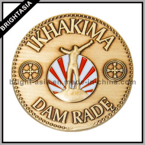 3D Metal Coin with Custom Two Sides Logos (BYH-10804) pictures & photos