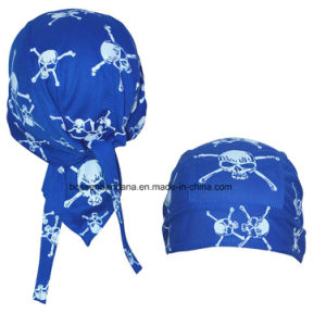 China OEM Produce Customized Logo Printed White Spider Webs Promotional Headscarf Head Wrap pictures & photos