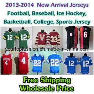Brand New Mens American Football Jerseys, Customized Game Jersey, Embroidery and Sewing Logos