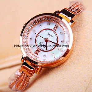 High Quality Alloy Quartz Gold Wrist Watch Dress Watch for Lady pictures & photos