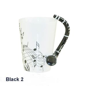 Hand Painted Fine Bone China Mug with Clarinet Handle