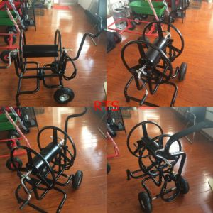 Black Color Two Wheels Hose Reel Cart pictures & photos