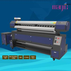 Mcjet 90 Inch Eco Solvent Digital Flexographic Printer with 2 Printheads Epson Dx7 pictures & photos