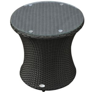 Well Furnir T-040 PE Resists UV Rays 3 Piece Rattan Wicker Outdoor Stacking Patio Chair Table Sets pictures & photos