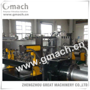Plastic Recycling Granulating Extrusion Line Used Plate Type Hydraulic Screen Changer pictures & photos