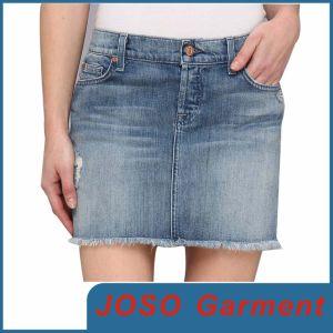 Women Mini Denim Skirts (JC2025) pictures & photos