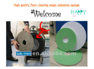 Polished Machine Magic Floor Polished Pad Cleaner Melamine Foam Sponge China Factory Manufacture pictures & photos