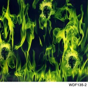 New Arrival Kingtop 0.5m Wide Flame Design Printable Water Transfer Printing PVA Hydrographic Film for Hydro Dipping with Red Blue Green Color Tskf5147 pictures & photos