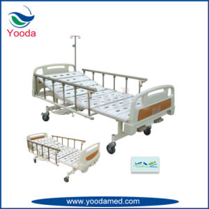 Three Function Manual Bed with Foldable Aluminum Alloy Side Rails pictures & photos