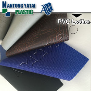 High Folding Endurance PVC Artificial Leather for Auto Upholstery pictures & photos