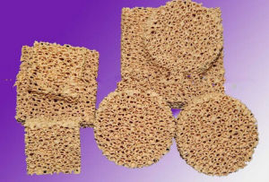 Zirconia Ceramic Foam Filter (Honeycomb Filter) for Metal Filtration pictures & photos