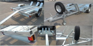 Galvanized Motobike Trailer on Sale 2015 pictures & photos