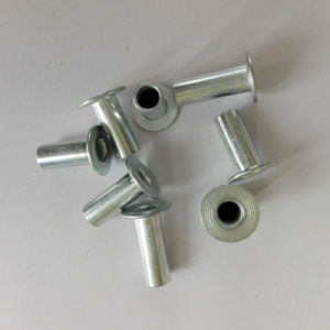 Fully Tubular Steel White Zinc Plated Brake Lining Rivets 8X22mm